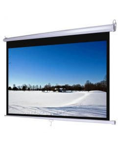 "Jual Layar D-Light Manual Pull Down Wall Screen 2424L (96"")"